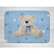 Tapis pour enfants Teddy bleu