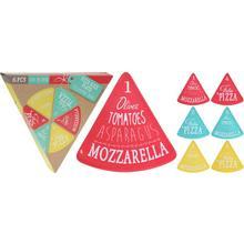 Lot de 6 assiettes à pizza en mélamine