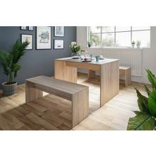 Table + lot de 2 bancs