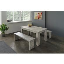 Table + lot de 2 bancs