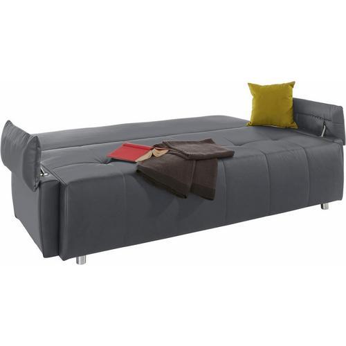 Canapé-lit en simili cuir