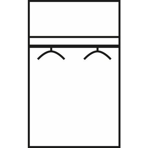 Garde-robe à 2 portes