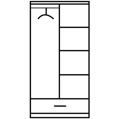 2-deurskleerkast Sari