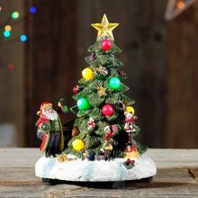 Kerstboompje met 8 led-lampjes