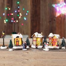 10-delig kerstdorp met led-verlichting
