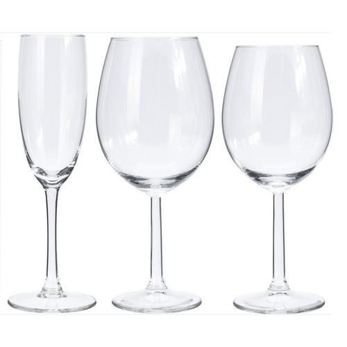 18-delige set wijn- & champagneglazen