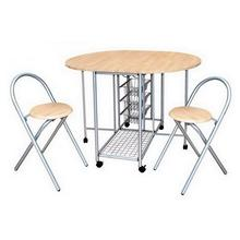 Table pliante avec 2 tabourets