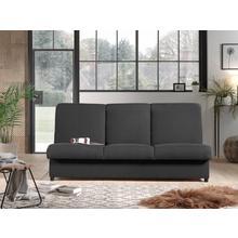 Canapé-lit en tissu structuré