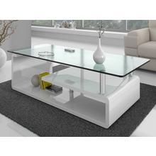 Table basse à plateau supérieur en verre