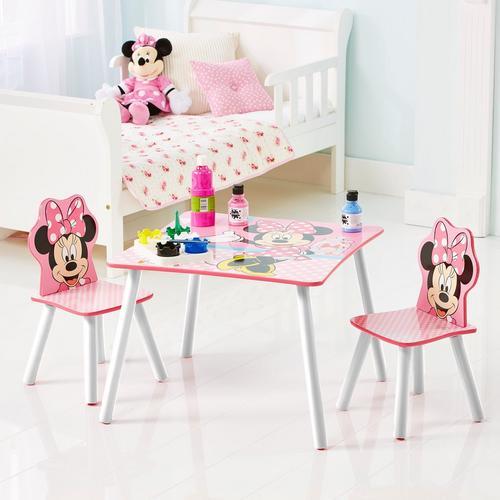 Tafeltje + 2 stoeltjes Minnie Mouse
