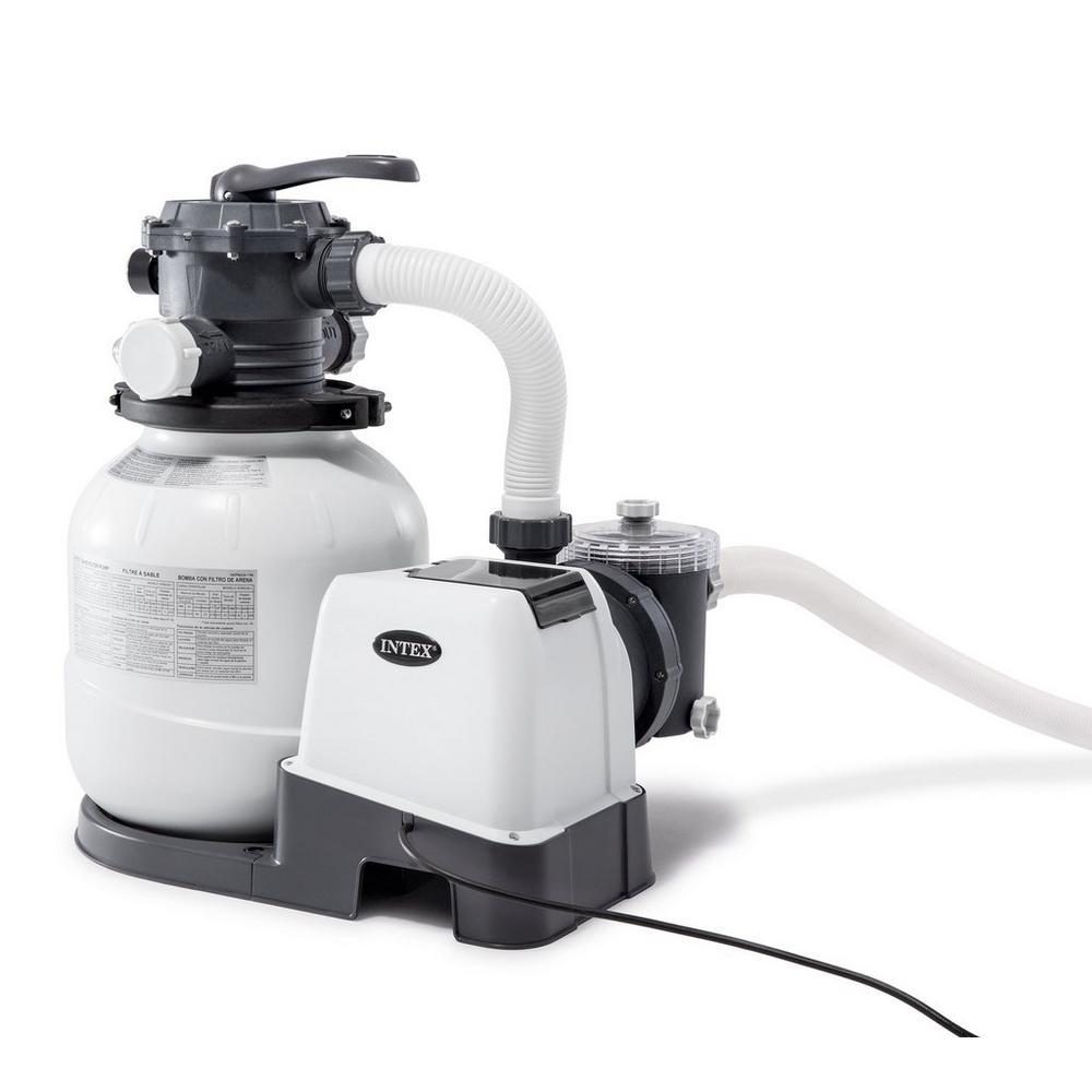 Filtre Piscine Lave Vaisselle pompe à filtre à sable kristal clear 6000 l/h intex