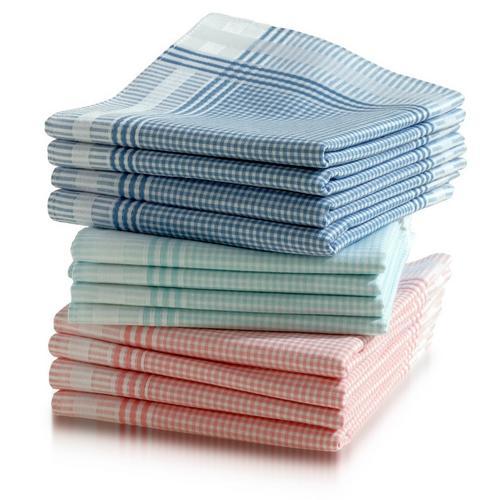 Lot de 12 mouchoirs pour dames