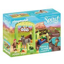 PLAYMOBIL® 70120 Knip en Meneer Worteltjes met paardenbox