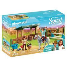 PLAYMOBIL® 70119 Espace d'entrainement avec Lucky et Javier de PLAYMOBIL