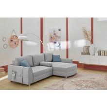 Salon d'angle Lotte en tissu structuré