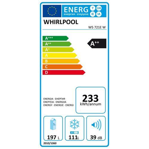 Koel-vriescombinatie WHIRLPOOL W5 721E W