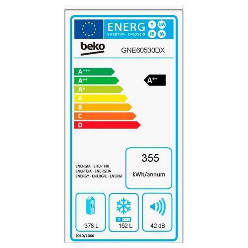 Koel-vriescombinatie BEKO GNE 60530 X