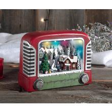 Scène de Noël animée et musicale avec éclairage
