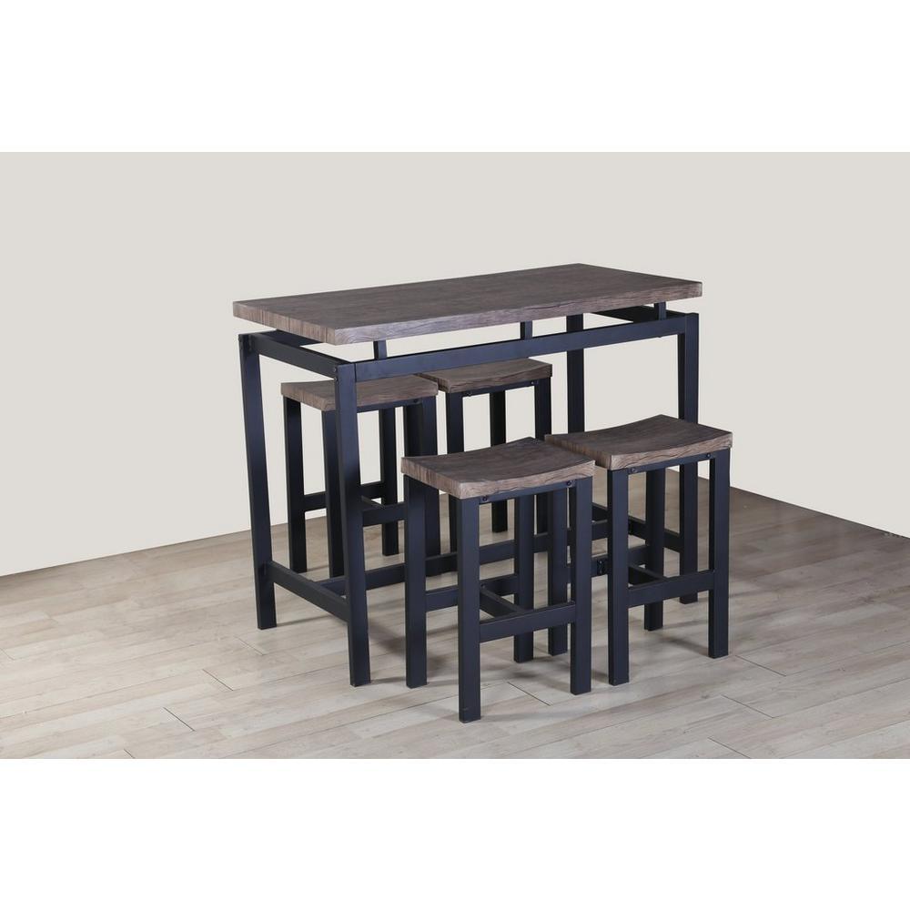 Verbazingwekkend Bartafel + 4 barkrukken - Stoelen & tafels - UNIGRO.be HG-54
