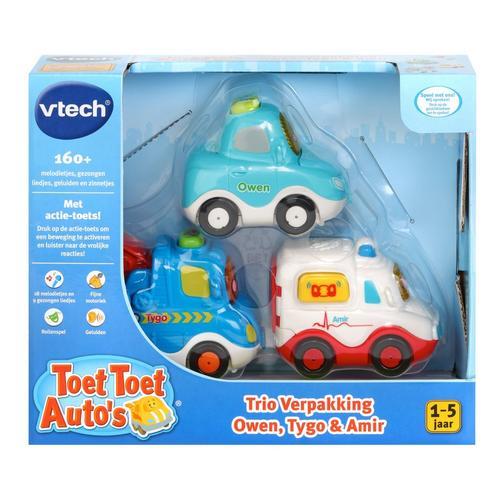 Toet Toet Auto's Trio Verpakking - Owen, Tygo & Amir VTECH