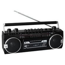 Draagbare radio/cassettespeler ROADSTAR RCR-3025 EBT/BK