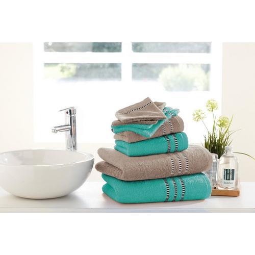 8-delige handdoekenset Aqua