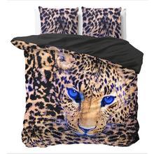 Parure housse de couette Cheetah Taupe