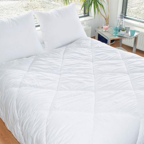 Lot de couette 240 x 220 cm + 2 oreillers lavable à 95° BLEU CÂLIN