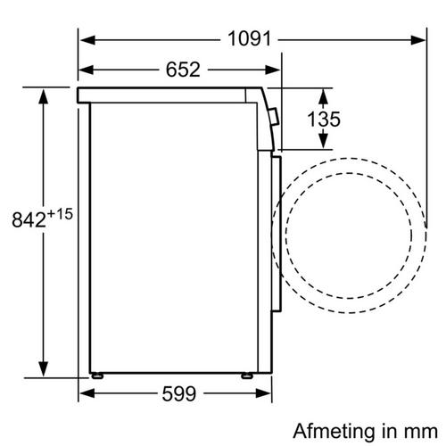 Elektronische condensatiedroogkast BOSCH WTN8327CFG