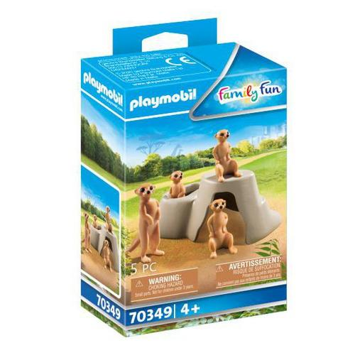 PLAYMOBIL® 70349 Suricates et rocher