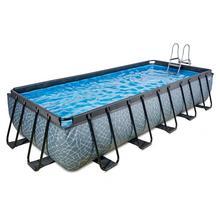 Zwembad EXIT Stone 540 x 250 x 100 cm met filterpomp - grijs