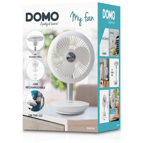 Oplaadbare tafelventilator DOMO DO8147