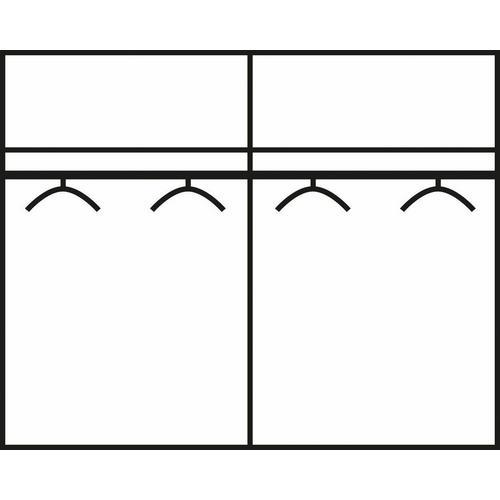 2-deurskleerkast met schuifdeuren en spiegel