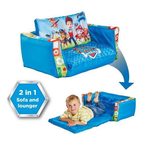 Mini-canapé convertible/canapé-lit gonflable pour enfants La Pat' Patrouille