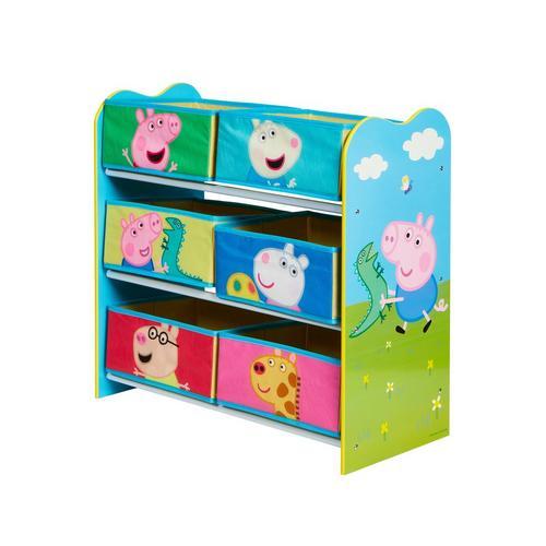 Speelgoedopbergkast met 6 bakken Peppa Pig