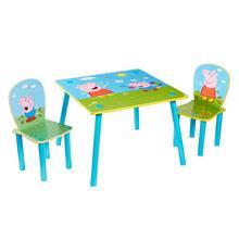 Table et 2 chaises pour enfants Peppa Pig