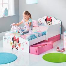 Lit d'enfant avec tiroirs de lit DISNEY Minnie Mouse + sommier + matelas
