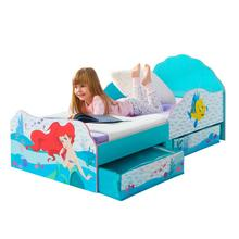 Kinderbed met bedladen DISNEY Princess Ariel + bodem + matras