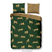 Parure housse de couette Leopards green
