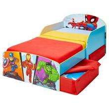 Lit d'enfant avec tiroirs de lit Marvel + sommier + matelas