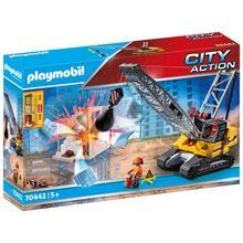 PLAYMOBIL® 70442 Dragline avec mur de construction