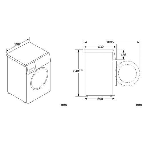 Wasmachine 10 kg BOSCH WAX32G42FG