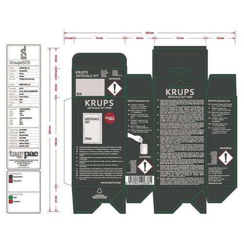 Ontkalkingspoeder KRUPS F054001B