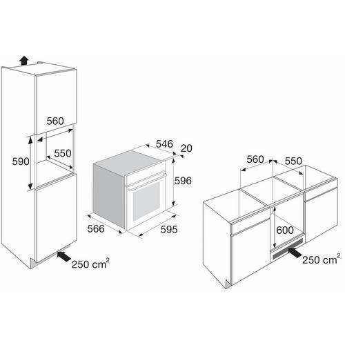 Inbouwoven met microgolffunctie ETNA MO670Ti
