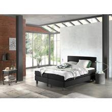 Bed met pocketverenmatras 180 x 200 cm