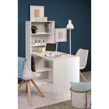 Bureau met ingebouwde boekenkast