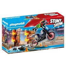 PLAYMOBIL® 70553 Stuntshow Motor met vuurmuur