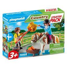 PLAYMOBIL® 70505 Starter Pack Cavalière et palefrenier