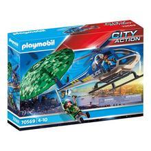 PLAYMOBIL® 70569 Hélicoptère de police et parachutiste