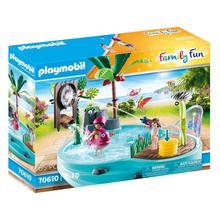 PLAYMOBIL® 70610 Leuk zwembad met watersplash